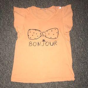 Emile Et Ida girl ruffle sleeves tee shirt
